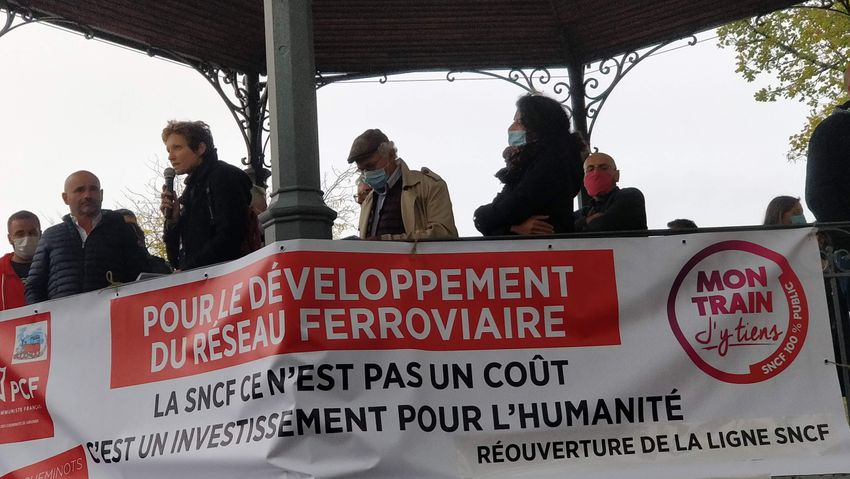 Photo de l'article: Relancer le train oui, mais comment ? Membres de Railcoop et cheminot CGT en débattent